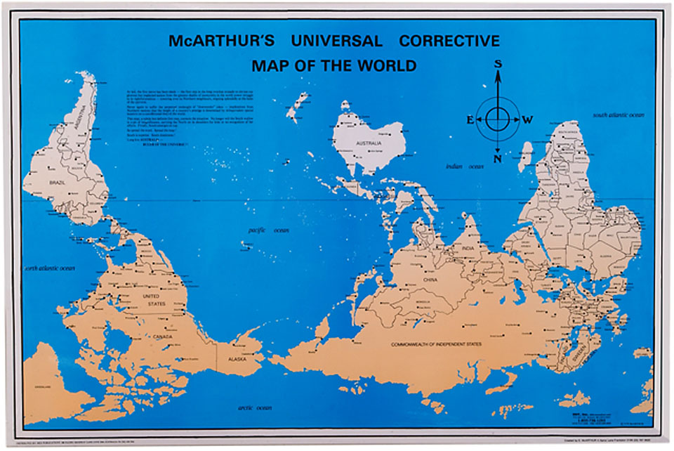 Mcarthur's Universal Corrective Map of the World