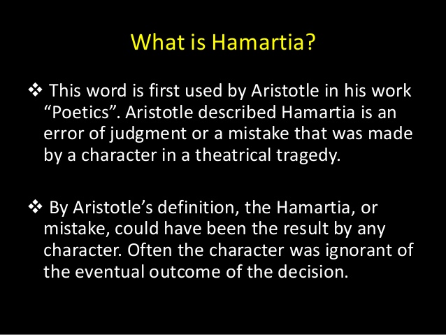 What is hamartia?